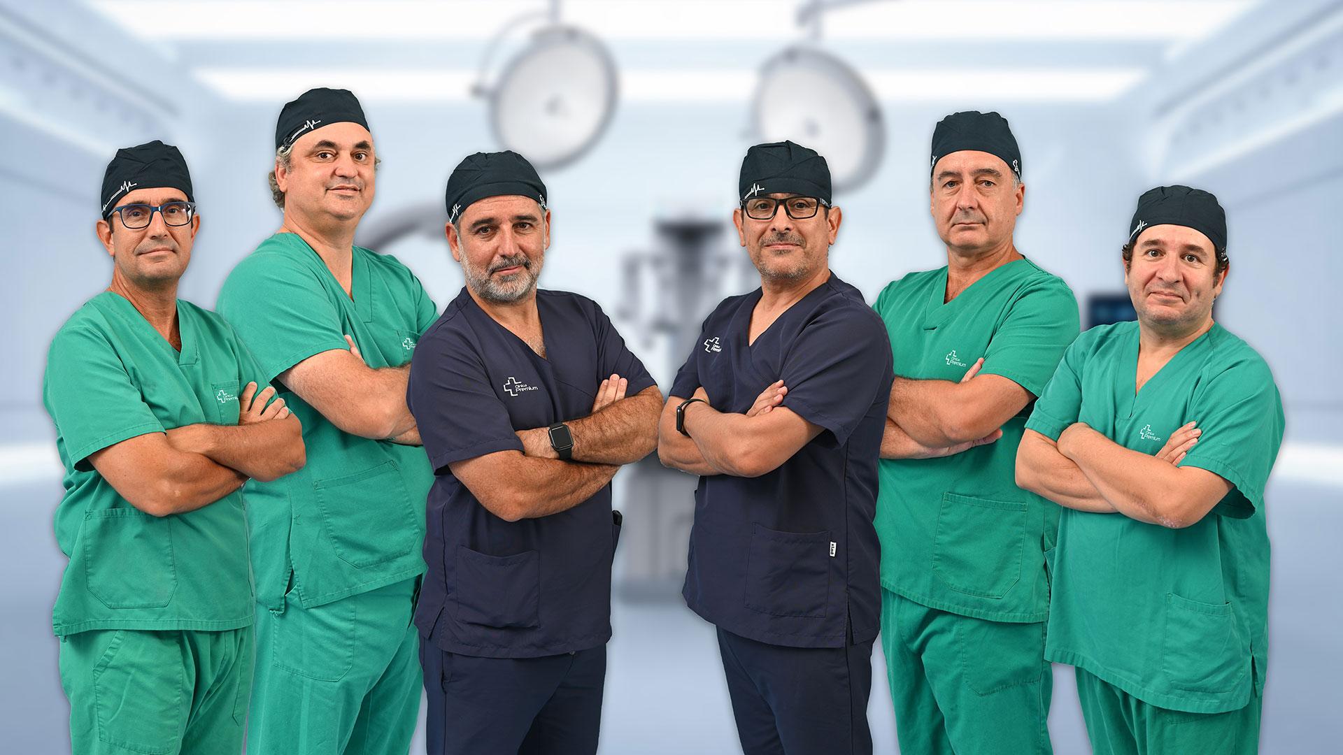 El equipo de Cirugía Robótica de Clínica Premium especializado en Cáncer de Próstata